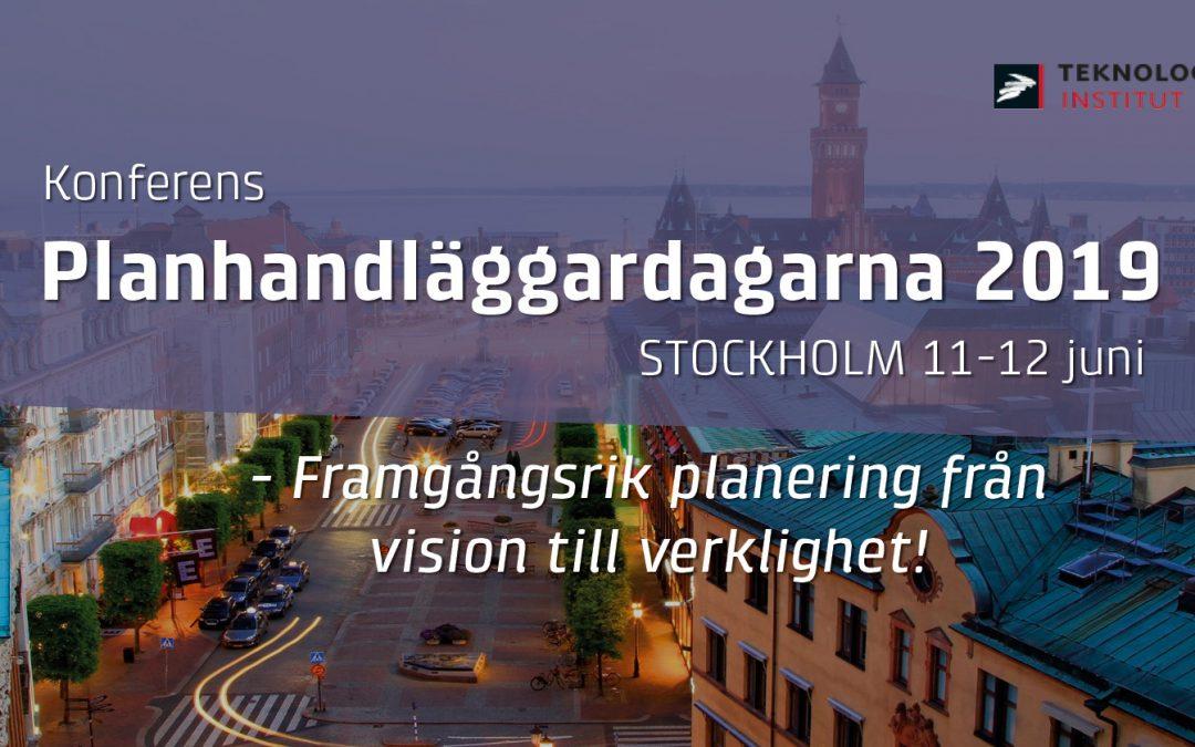 Föreläsning och workshop på Planhandläggardagarna 2019
