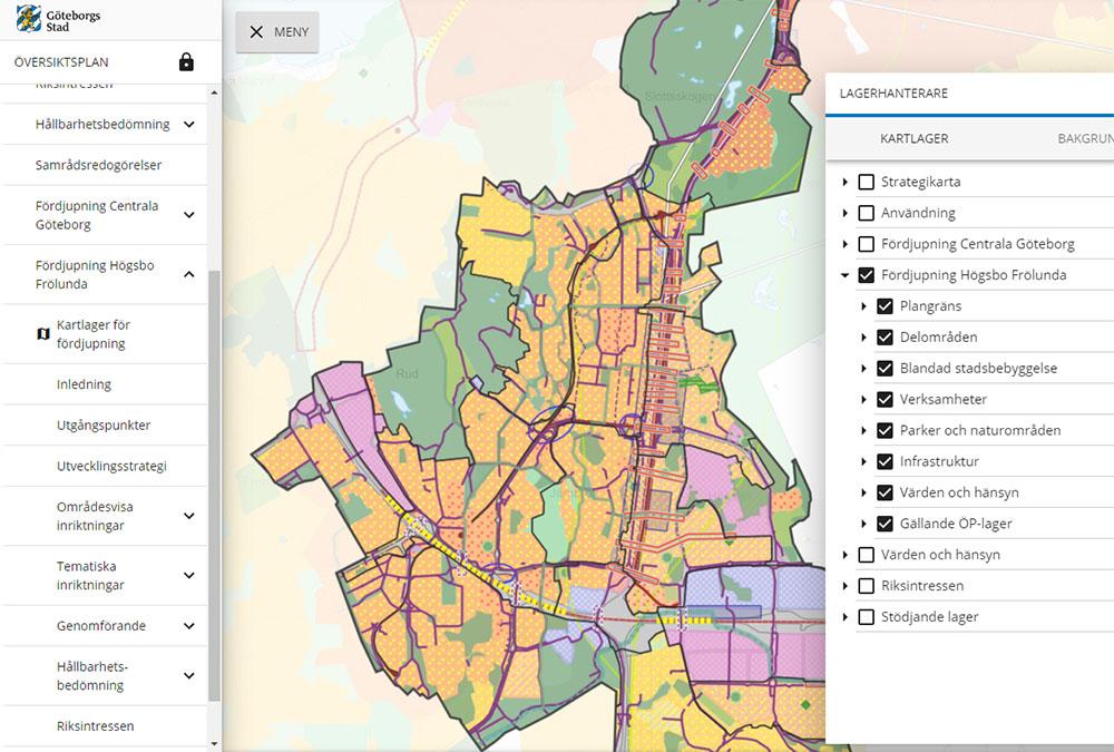 Digital översiktsplan i Göteborg