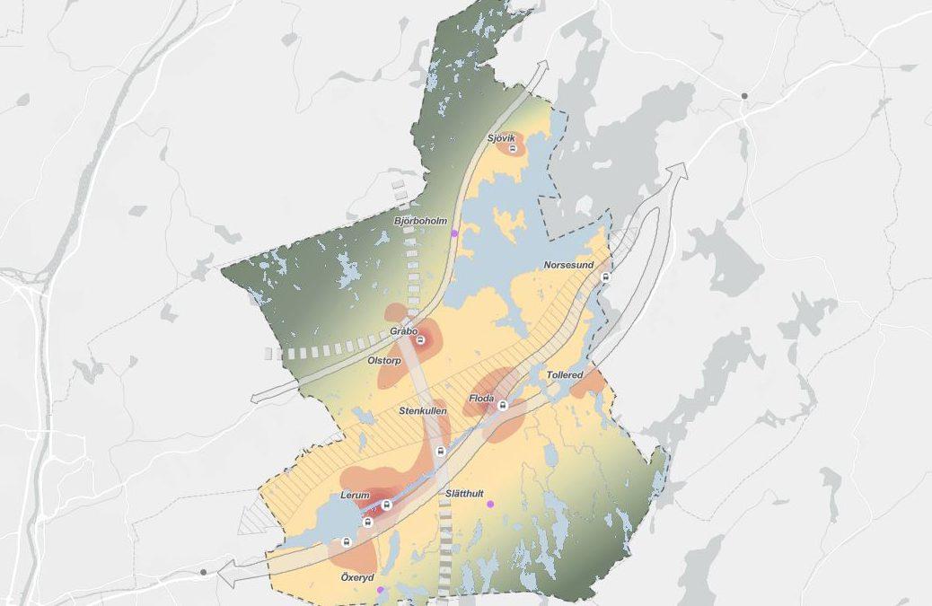 Digital översiktsplan för Lerums kommun ute på samråd